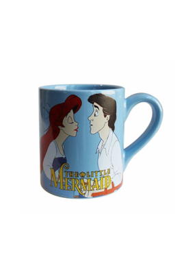 "SILVER BUFFALO THE LITTLE MERMAID ""KISS THE GIRL"" 14oz CERAMIC MUG"