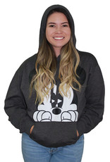 Jerry Leigh MICKEY PEEKING ADULT PULLOVER HOODIE