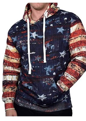 EXST USA VINTAGE FLAG PULLOVER HOODIE