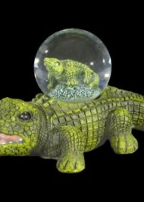 BLUE GATOR FIGURINE GLOBE 45MM