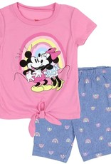 PKW MINNIE MOUSE GIRLS TODDLER 2PC BIKE SHORT SET