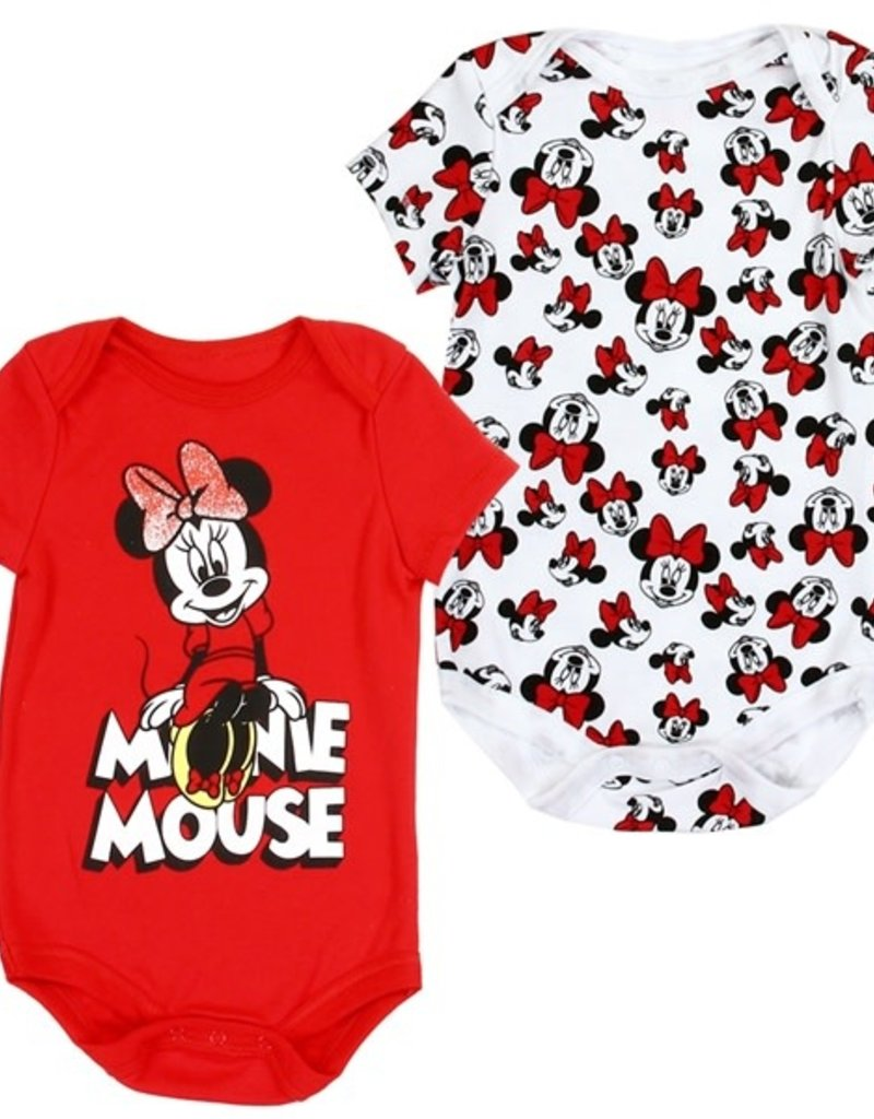 PKW MINNIE MOUSE GIRLS NEWBORN 2-PACK CREEPERS
