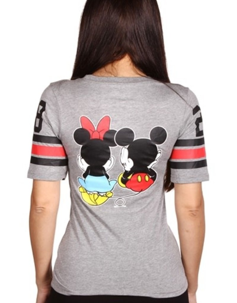 PKW DISNEY MICKEY/MINNIE JUNIOR FRONT/BACK PRINT HOCKEY T-SHIRT