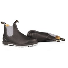 Blundstone 1452- Black with Grey Elastic and Two-Tone Sole