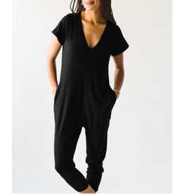Smash & Tess Sunday Short Sleeve Romper Black