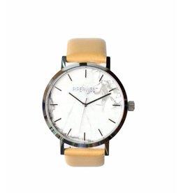 PiperWest Marble Minimalist Watch SIL/BONE