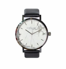 PiperWest Marble Minimalist Watch SIL/BLK