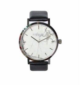 PiperWest Marble Minimalist Watch SIL/BLK