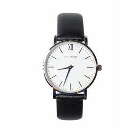 PiperWest Mini Minimalist Watch SIL/BLK