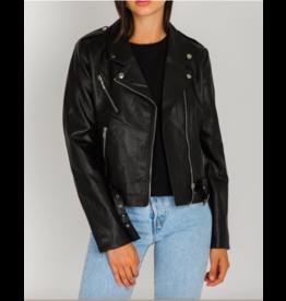 Brunette The Label Florence Biker Jacket BLK