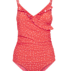 ICHI Ditsy Print Tank Suit RED