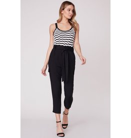 BB Dakota Precious Cargo High Waisted Pant BLK