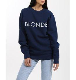 Brunette The Label Blonde Crew NVY