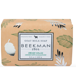 Beekman 9oz Bar Soap Sweet Grass