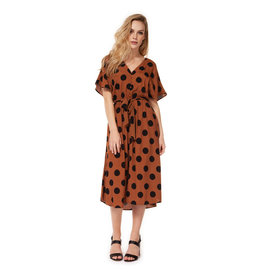 Dex Dot V Neck Maxi Dress CAM