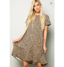 Cezanne Leopard T-shirt Dress