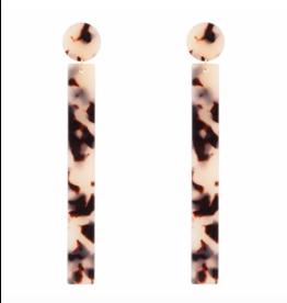 Club Manhattan Leopard Bar Earring