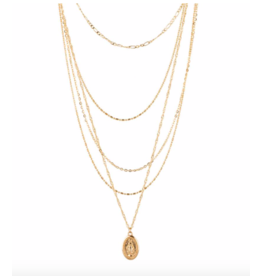 Club Manhattan Layered Amulet Necklace