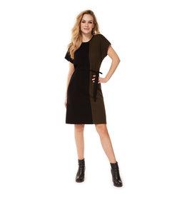 Dex Colorblock Tee Dress BLK