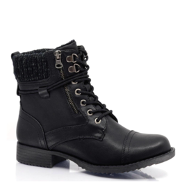 Taxi Bronx Lace up Sweater Hiker BLK