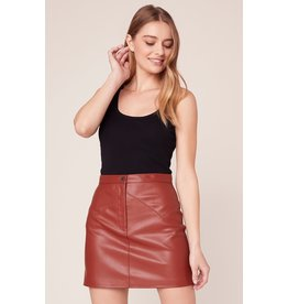 BB Dakota Keep Livin' Vegan Skirt RUST