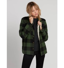 Volcom Plaid About You Sherpa L/S GRN