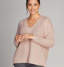 C'est Moi Chunky Knit V neck Sweater
