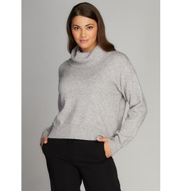 C'est Moi Knit Cowl Sweater GRY