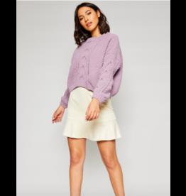 Sadie & Sage Azalea Crop Sweater LAV