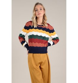 Molly Bracken Chevron Stripe Sweater MUL
