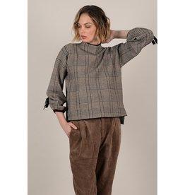 Molly Bracken Checked Mock Sweater BGE