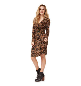 Dex L/S Faux Wrap Dress LEO