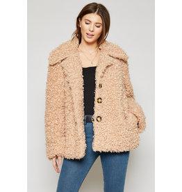 Sadie & Sage Factory Fur Coat BGE