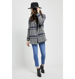 Gentle Fawn Desmond Plaid Jacket GRY