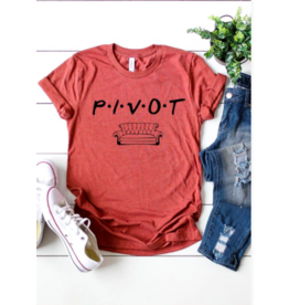Kissed Apparel Pivot Tee CLAY