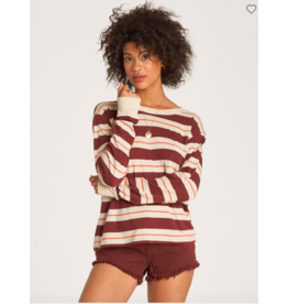 Billabong Retro Babe Stripe Top BURG
