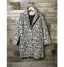 Pink Martini Hadley Leopard Coat GRY