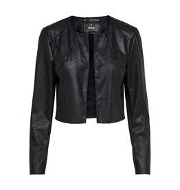 Only/Vero Moda Fawn Faux Suede Crop Jacket BLK