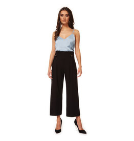 Black Tape Pleat Palazzo Pant BLK