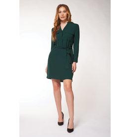 Dex Belted Shirt Dress PINE