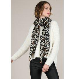 Molly Bracken Leopard tassel Scarf