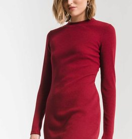 Z Supply Thermal Dress Rhumba Red