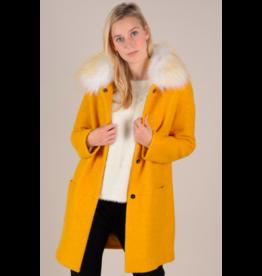 Molly Bracken Fur Trim Patch Pocket Jacket MUS