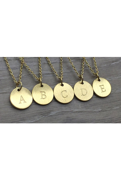 Monogram Disk Upper Case Necklace