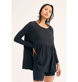 Free People Forever Your Girl Babydoll BLK