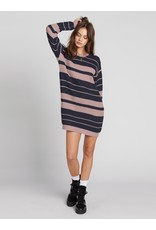 Volcom Move On Up Sweater Dress NVY