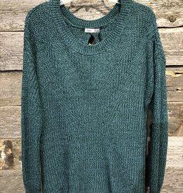 Dex Plus Split Back Scoop Sweater PINE