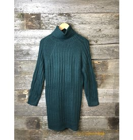 RD Style Wide Rib Sweater Dress TEAL
