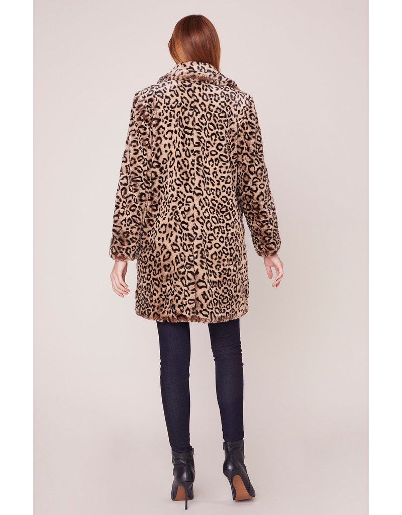 BB Dakota Meowie Wowie Faux Fur Jacket LEO