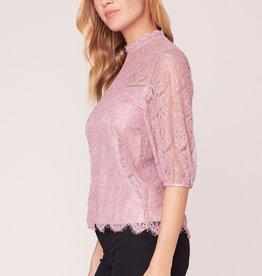 BB Dakota Icing On Top Lace Blouse ROSE